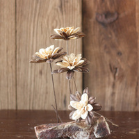 One Piece Chinese Herbaceous Peony Natural Material Dried Shell With Long Rod Handmade Combination Art Dried