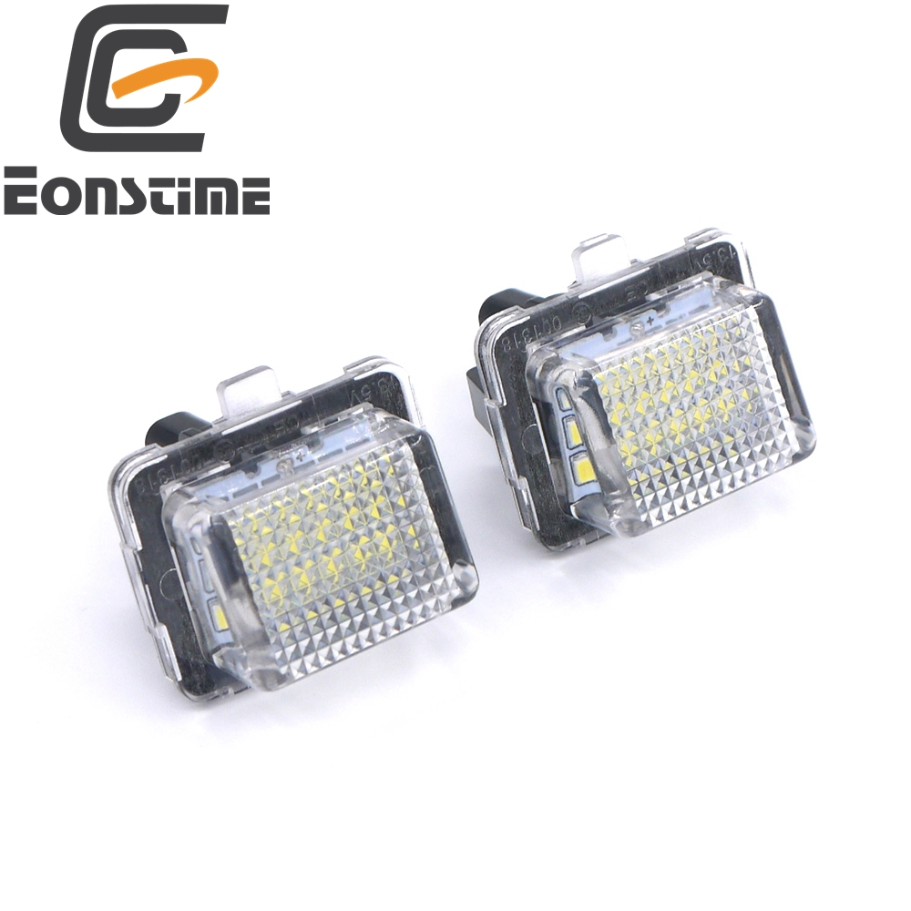 Eonstime 7000K 2pcs 18LED License Plate Lamps For <font><b>Mercedes</b></font> Benz W204 W212 W207 W221 W216 C250 <font><b>C300</b></font> C350 C63 Sedan W218 <font><b>2010</b></font> W212 image