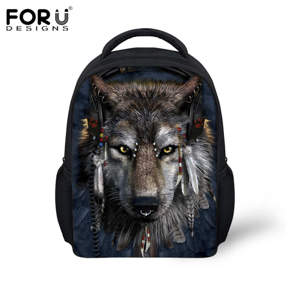 e10af1c79840 ... cartoon animal kids backpacks kindergarten cool 3d wolf small shoulder  bags baby children bag pack toddler ...