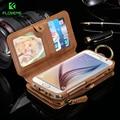 FLOVEME Business Brieftasche Telefon Fall Für Samsung Galaxy Note 9 8 10 Plus Fall Zipper Leder Coque Für iPhone XS MAX X Fall brieftasche auf