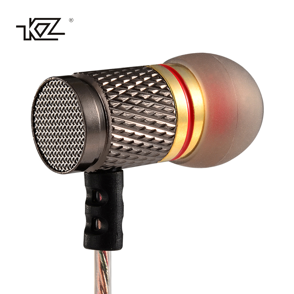 KZ ED Special Edition Gold Plated Housing Earphone 3.5mm HD HiFi In-Ear Bass Stereo Music Earbuds Mini Headset with Microphone