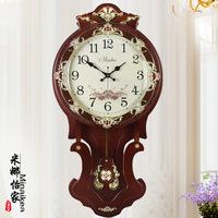 TUDA Korean New Creative Living Room Bedroom Villa Oversized Mute Core Electronic Quartz   Clock   Pendulum
