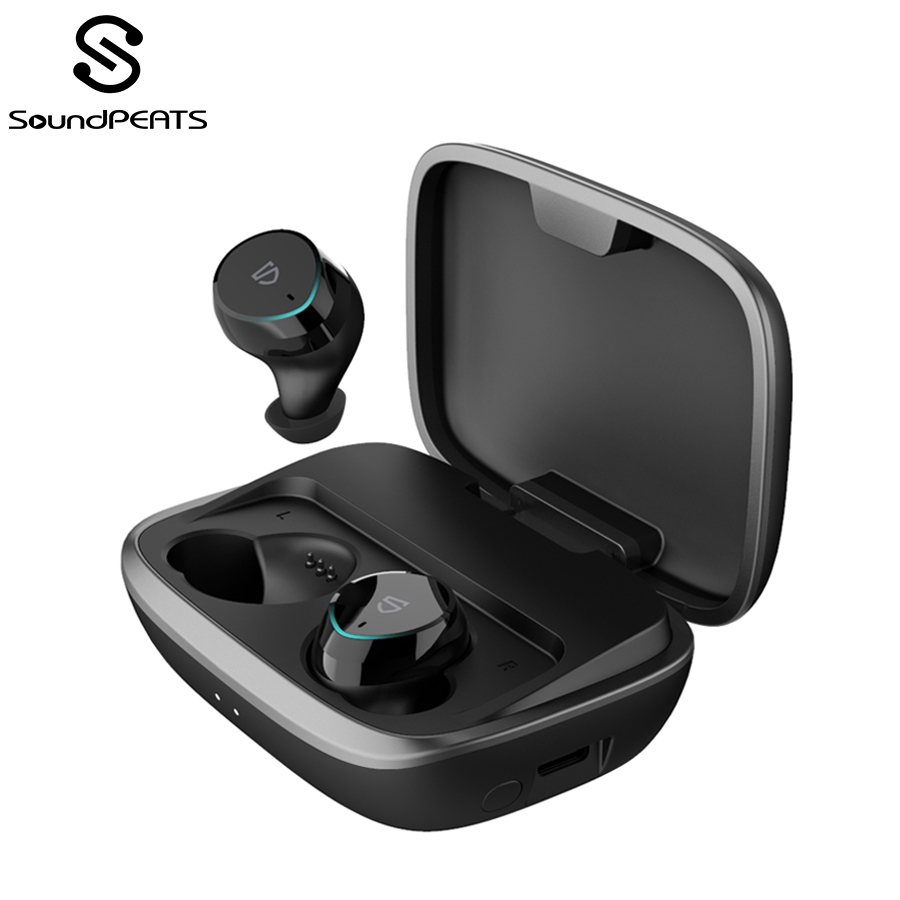 SoundPEATS Bluetooth 5.0 Wireless Earphones IPX7 Waterproof True Wireless Stereo Earbuds In-Ear TWS Bluetooth Headset With Mic