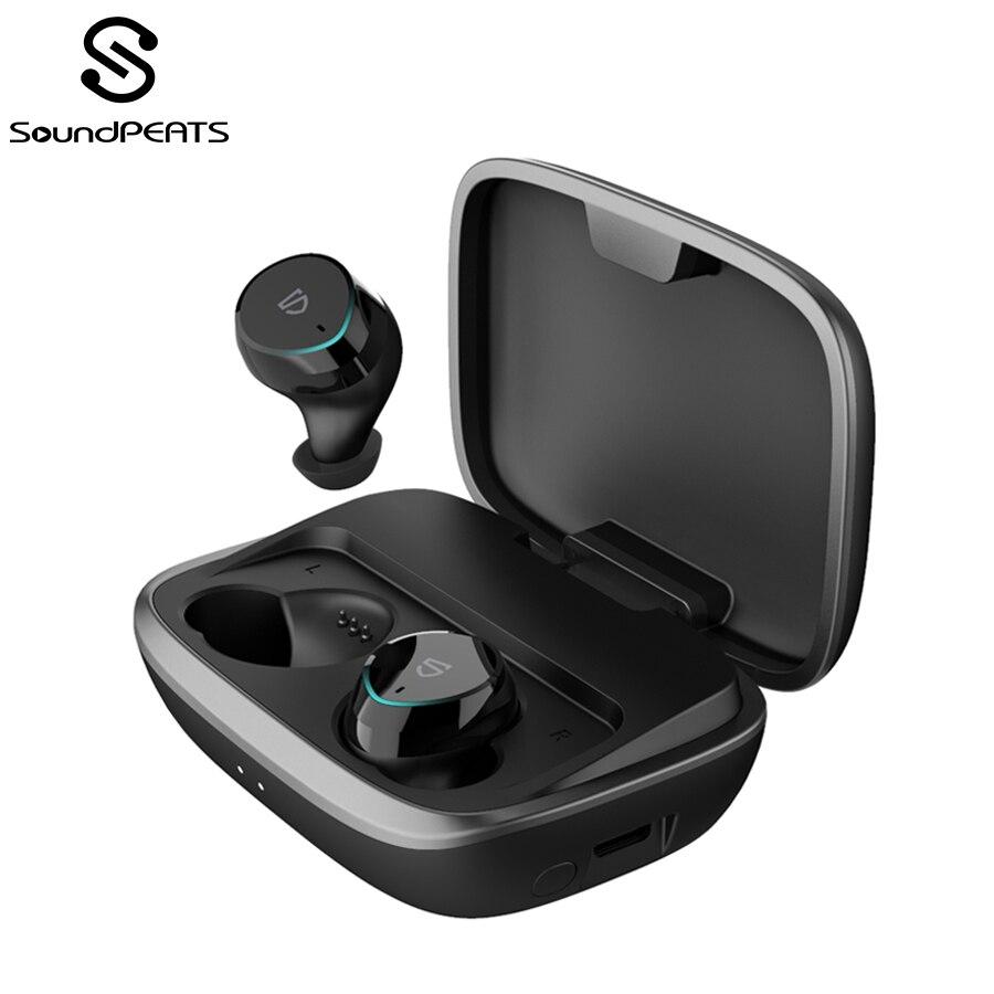 SoundPEATS Bluetooth 5.0 écouteurs sans fil IPX7 étanche véritable sans fil stéréo écouteurs intra-auriculaires TWS Bluetooth casque avec micro