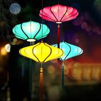 Novo chinês tecido lanterna pingente lâmpadas clássica sala de estar moderna luz pingente quarto estudo hotel iluminação pa0321|Luzes de pendentes| |  -