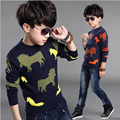 New Boy Winter Sweaters Autumn Boy Outwear Sweater  Pullover Child Sweater Knitted Boys Clothes Boy Knitwear Kids Jacket Sweater