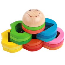 Montessori Teaching Materials Mat Baby Educational Toys For Wooden Aid Flower Shape Set Of Column
