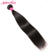 Aphro Hair Peruvian Straight Hair Weave Natural Color Human Hair Extension 8inch-30inch Remy Hair Bundles 1 Piece Free Shipping