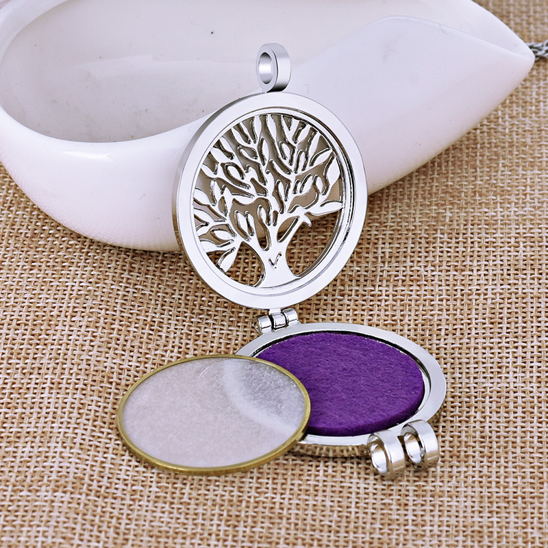 Creative Openable Pendent Necklace luminescent life Tree Original Necklace Aromatherapy Necklace for Women Jewelry Gift in Pendant Necklaces from Jewelry Accessories