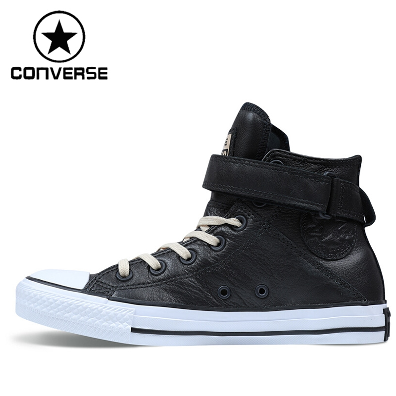 Original New Arrival Converse Brea Women' Skateboarding Shoes Leather Sneakers original converse selene monochrome leather women s skateboarding shoes sneakers