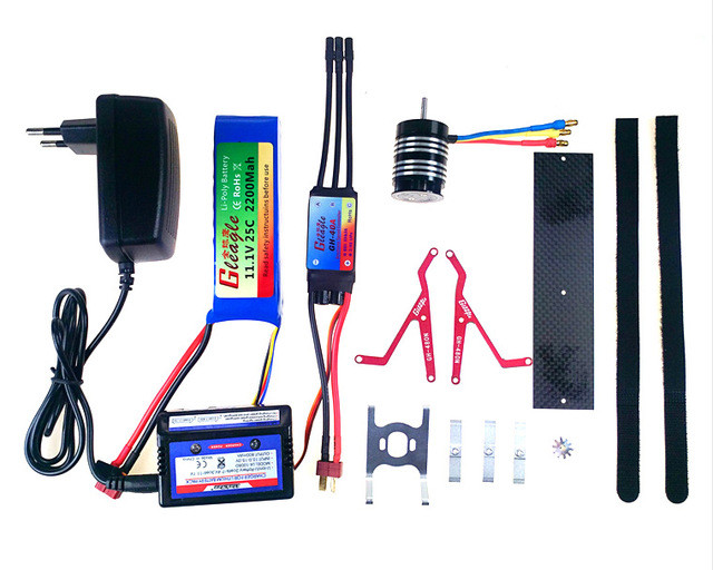 Gleagle Hybrid Fuel& Eletric kits Combo for 480N Fuel Helicopter