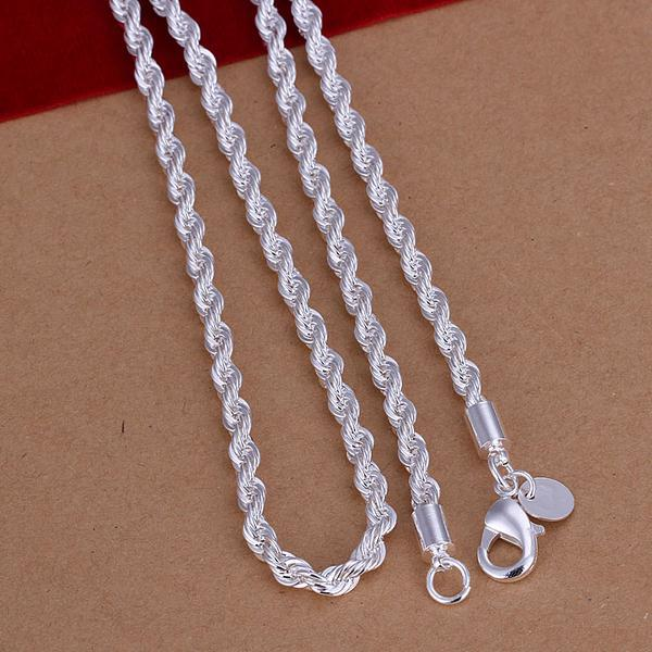 Fss051 Fashion Sterling Silver 925 Jewelry Set For Men Rope Chain Necklace And Bracelet In Sets From Accessories On Aliexpress