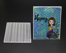 Water wave pattern metal cutting mold DIY scrapbook album decoration supplies clear seal paper card
