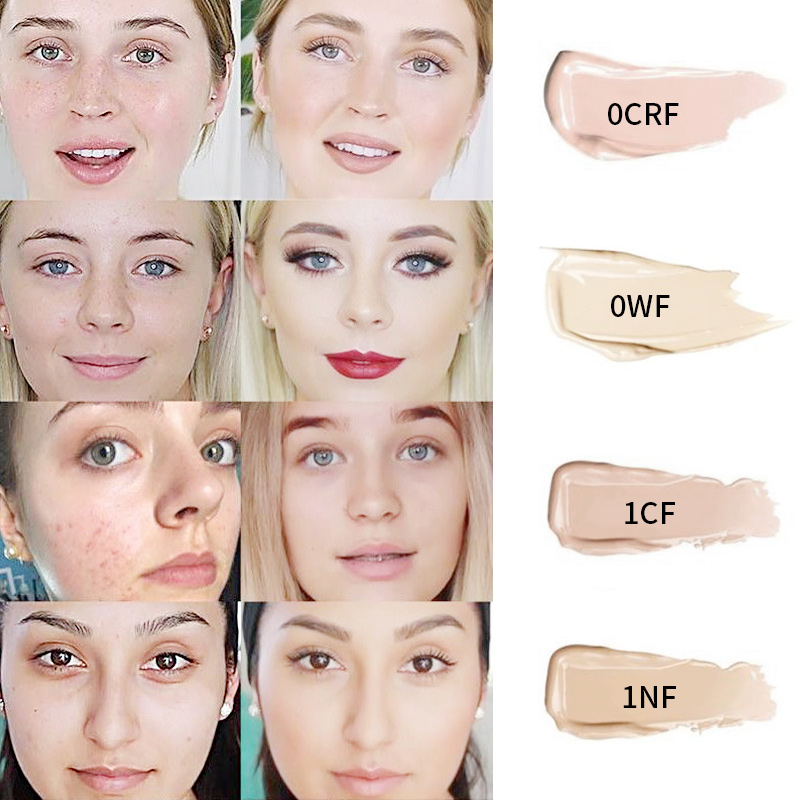 pudaier 40ml professional concealing foundation makeup matte tonal base Liquid cosmetics foundation cream for face full coverage 3