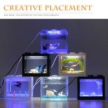مصباح حوض للأسماك مع شاحن USB ، مصباح LED ، حوض للأسماك ، حوض السمك ، المكتب ، غرفة المعيشة ، الديكور المكتبي