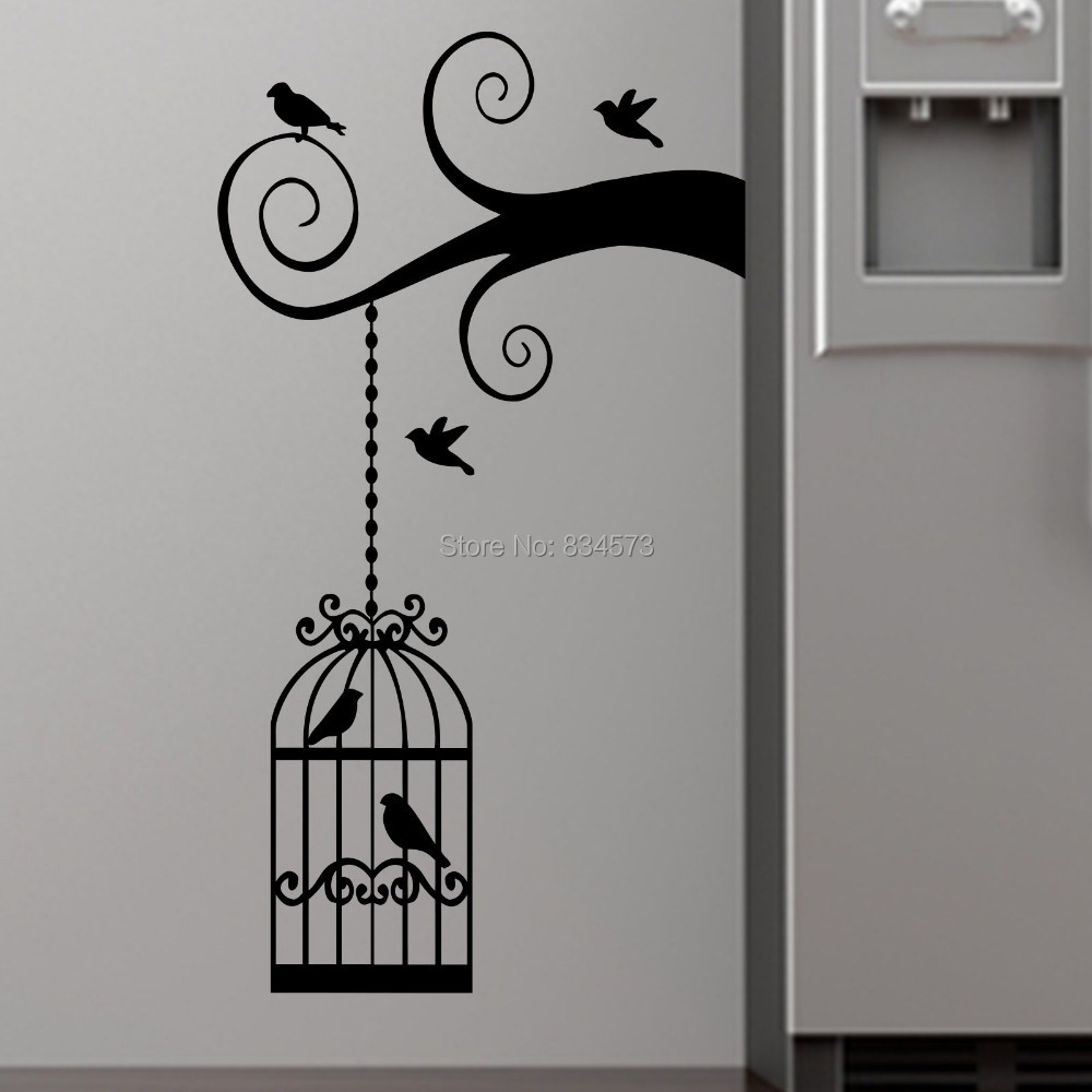 Online Get Cheap Birdcage Wall Art Aliexpresscom Alibaba Group - Diy wall decor birds