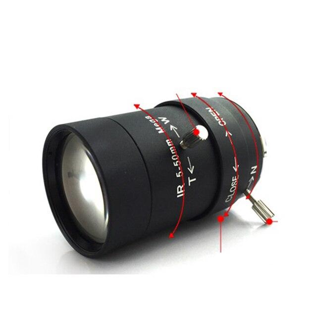 hot 5-50 mm cs mount F1.4 1/2.7 inch megapixel cctv lens with manual iris