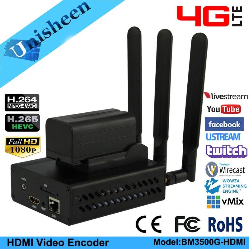 Unisheen 4G LTE H.264 H.265 wifi HDMI Video transmisor del codificador ip rtmps transmisión en directo inalámbrico youtube facebook wowza vmix 2020 el más nuevo 10 pulgadas tablet Android 9,0 pastel 32GB ROM HD WebCam WiFi Bluetooth tienda de juegos de Google Youtube Facebook Media Pad
