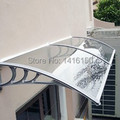 DS60160,60x160cm,polycarbonate sheet with plastic bracket new year christmas decoration awnings