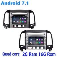 Android 7 1 Quad Core Car Dvd Gps For Hyundai Santa Fe IX45 2006 2012 With