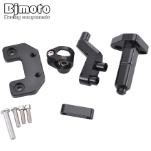 BJMOTO CNC Steer Support For Yamaha MT03 MT 03 2013-2018 Motorcycle Damper Steering Stabilize Damper Bracket Mounting Holder Kit cnc motorcycle damper steering stabilize damper bracket mounting holder kit for yamaha yzf r3 mt 03 r25