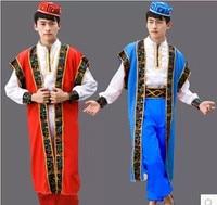Men Kaftan Thobe Clothing Islam Apparel Clothing Muslim Male Dress Islamic Men's Gowns dance stage performance apparel clothing