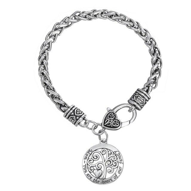 Skyrim Bijoux Charm Bracelets Pandora Blé Chaîne Bracelets \u0026 Coeur Homard  Fermoir Arbre De Vie Wicca