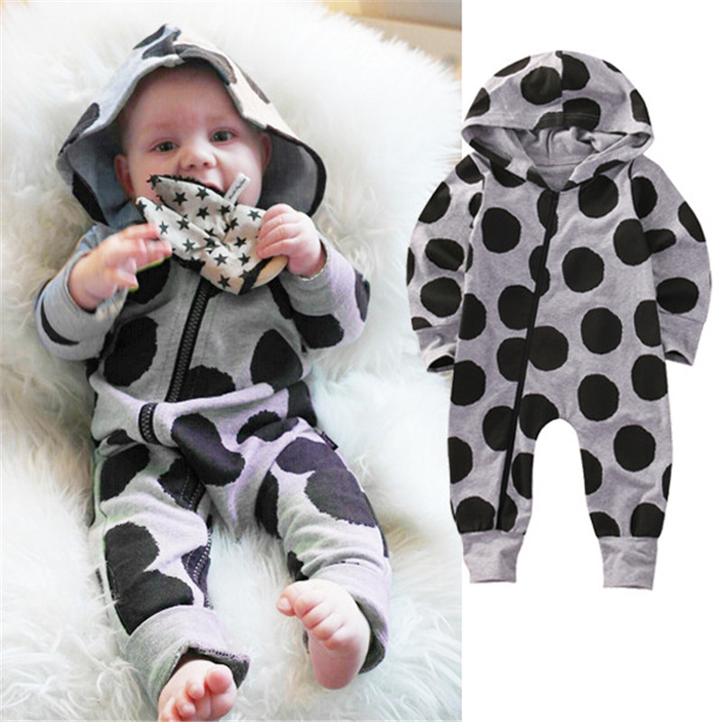 f735d5a0d Winter Fall Baby Boy Girl Long Sleeve Xmas Zipper Casual Romper ...