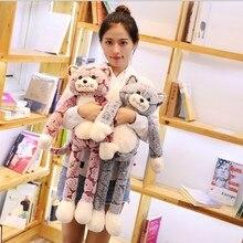 90cm Cat Plush Toy Black Gray Toys Lovely Anime Doll Birthday Gift for Children cat doll
