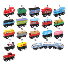 10pcs/lot Newest Fashion Wooden Train Toys Magnetic Tomas Railway Trian head Best Toys educational for Kids's Birthdays Gift(China)