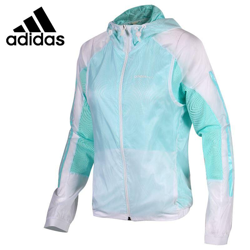 Original New Arrival 2017 Adidas NEO Label W WINDBREAKER Women's jacket Hooded Sportswear original new arrival official adidas neo label m 2 layer wb men s jacket hooded sportswear