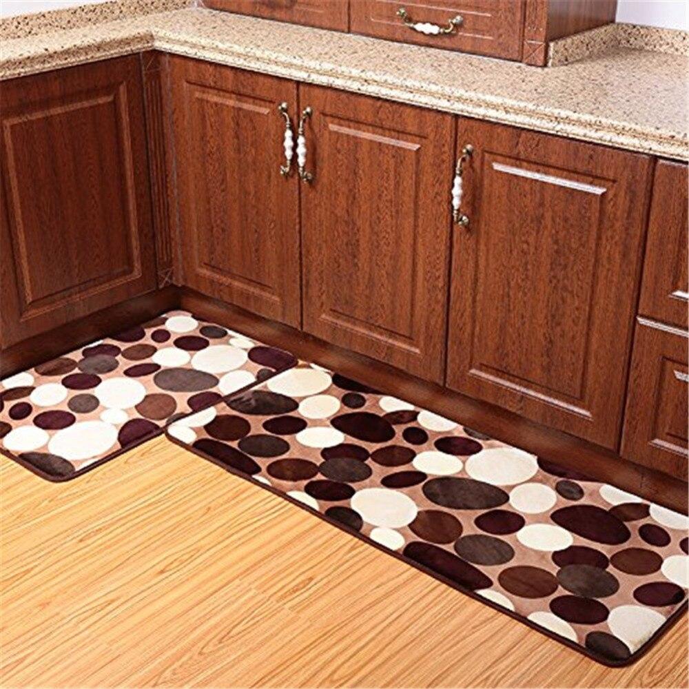 2 pièces 50x80 cm + 50x120 cm corail polaire mémoire mousse tapis de salle de bain tapis de cuisine lavable antidérapant absorbant corail tapis de sol coureur