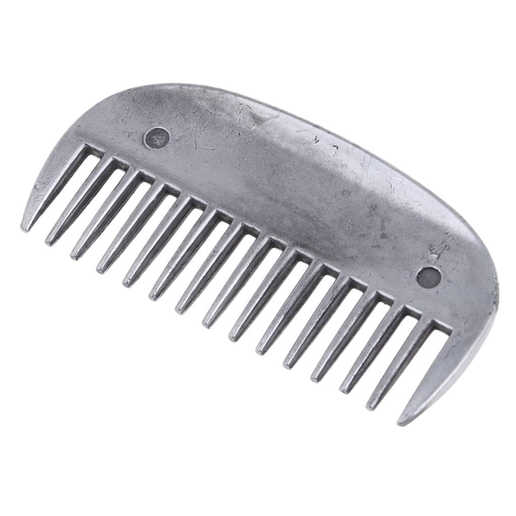 Stainless Steel Equestrian Curry Comb Horse Grooming Brush Equine Men Women Horse Riding Gear Outdoor Sports Tool