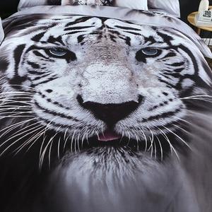 Image 5 - 3D nevresim takımı Kaplan Hayvan Nevresim kraliçe boyutu çarşaf 3 adet Ev Tekstili