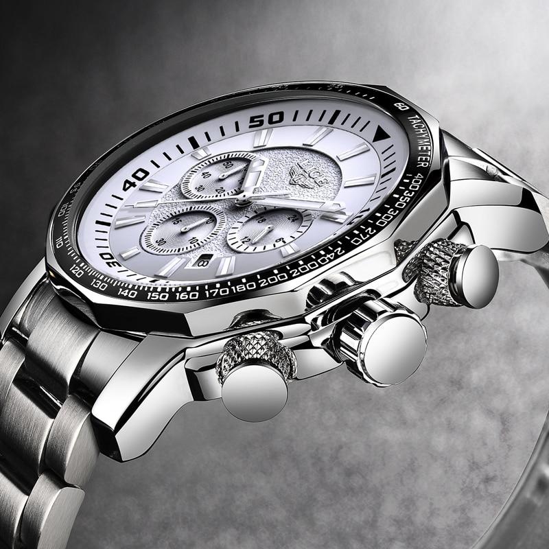 LIGE Heren Horloges Topmerk Luxe Waterdicht 24 uur Datum Quartz - Herenhorloges - Foto 4
