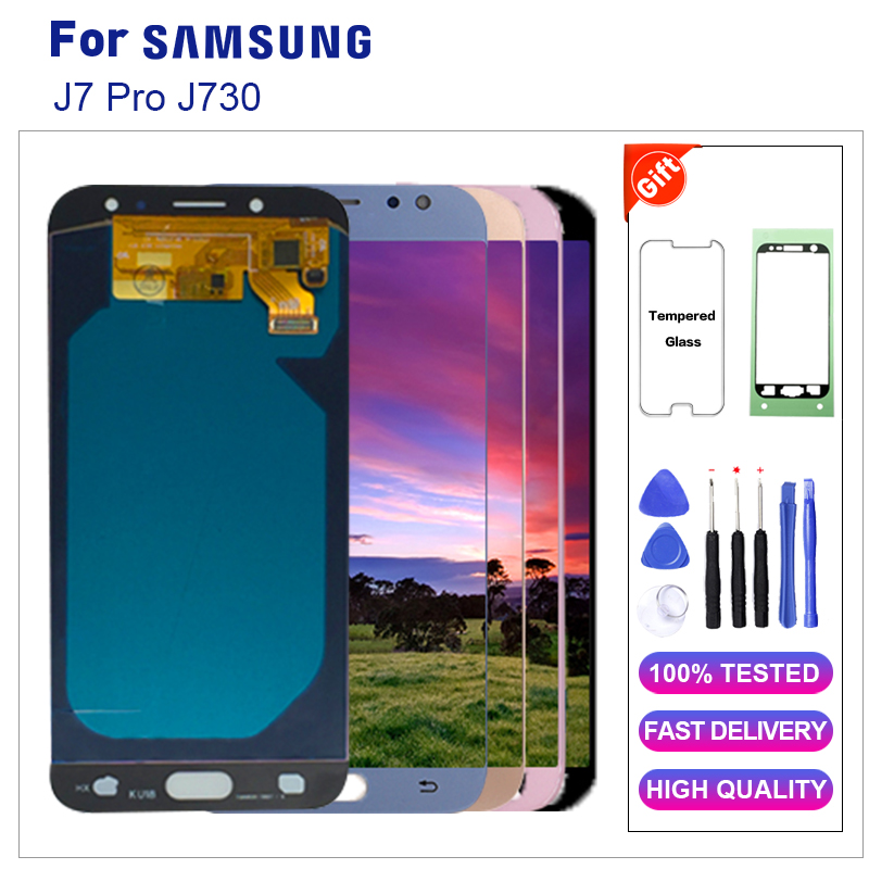 For Samsung Galaxy J7 Pro 2017 J730F LCD Display Touch Screen Digitizer For Galaxy J7 Pro 2017 J730 LCD Screen Replacement+ToolsFor Samsung Galaxy J7 Pro 2017 J730F LCD Display Touch Screen Digitizer For Galaxy J7 Pro 2017 J730 LCD Screen Replacement+Tools