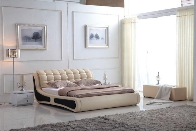 De cuero moderno sofá cama king size soft 802 en Camas de Muebles en ...