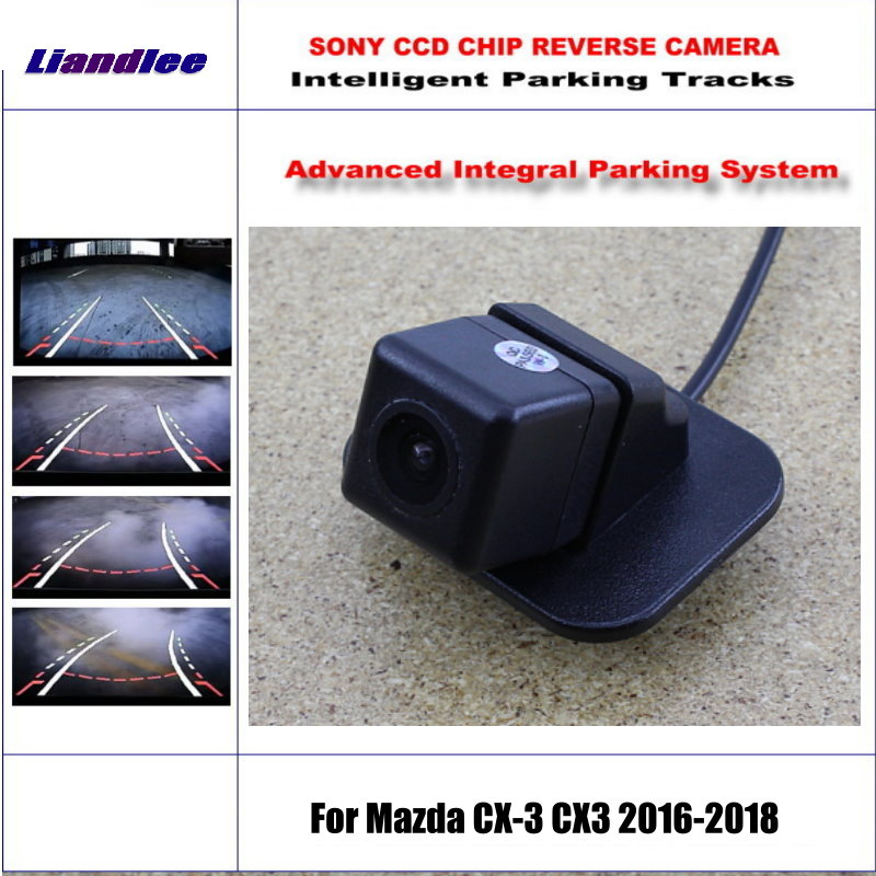 HD CCD SONY Rear Camera For Mazda CX-3 CX3 2016-2018 Intelligent Parking Tracks Reverse Backup / NTSC RCA AUX 580 TV Lines