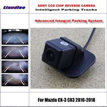 HD CCD SONY Rear Camera For Mazda CX-3 CX3 2016-2018 Intelligent Parking Tracks Reverse Backup / NTSC RCA AUX 580 TV Lines for mazda cx 5 cx 5 cx5 2012 2017 ccd night vision intelligent car parking camera with tracks module rear camera