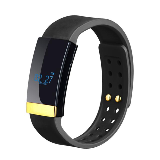 Rastreador de ejercicios banda inteligente pulsera bluetooth 4.0 monitor del ritmo cardíaco del podómetro recordatorio de llamada para iphone 7 ios android móvil