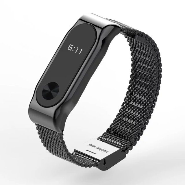 Metal Strap For Xiaomi Mi Band 2 Screwless Stainless Steel Bracelet For MiBand 2 Wristbands Replace Accessories For Mi Band 2