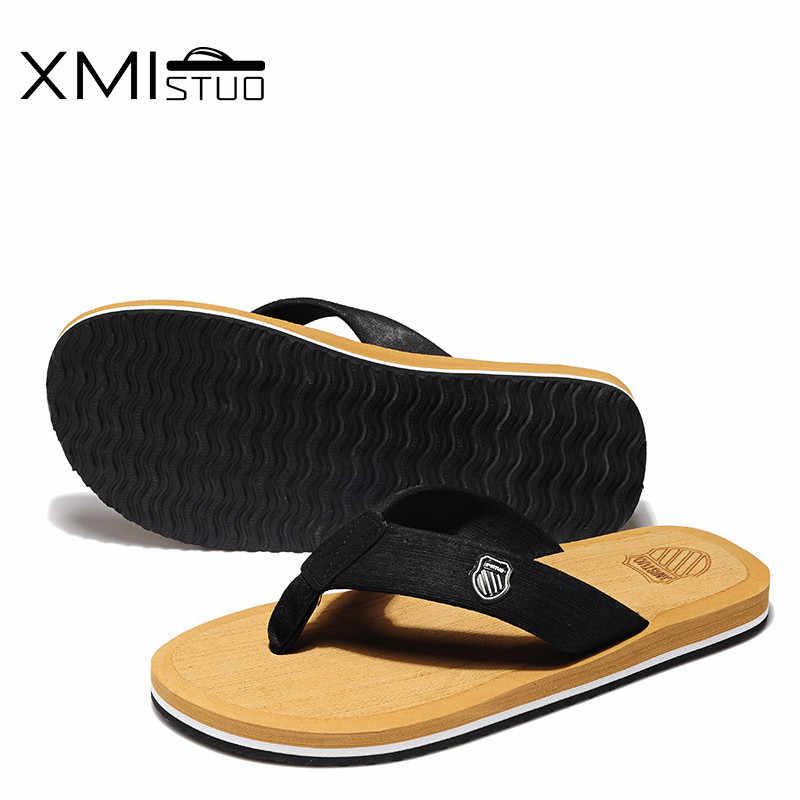 a1fae6c15 ... XMISTUO zapatos de hombre de talla grande Cool hombres chanclas para  zapatillas de playa holgadas para ...
