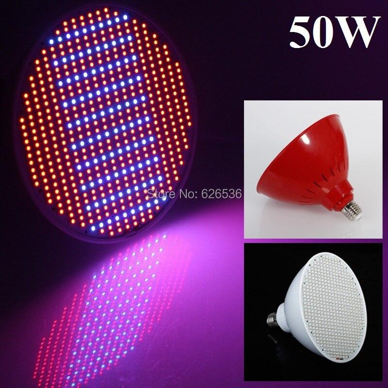 Нови осветителни тела за хидропоника 50W E27 AC85-265V 400RED / 100BLUE SMD 500 LEDS Led Plant Grow Light Led Led Bulb Grow Lamp