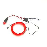 2.3mm Skirt 10Meters EL Wire Tube Rope Flexible Neon Cold Light LED Strip For Motorbike,Car,Party Decoration + DC 12V EL Driver