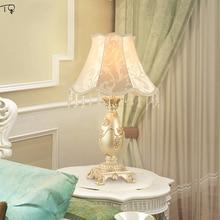 European-style Table Lamp Nordic E27 Led Art Deco Hand Drawn Bedroom Bedside Living Room Wedding Pastoral Luxury Warm Decorative недорого