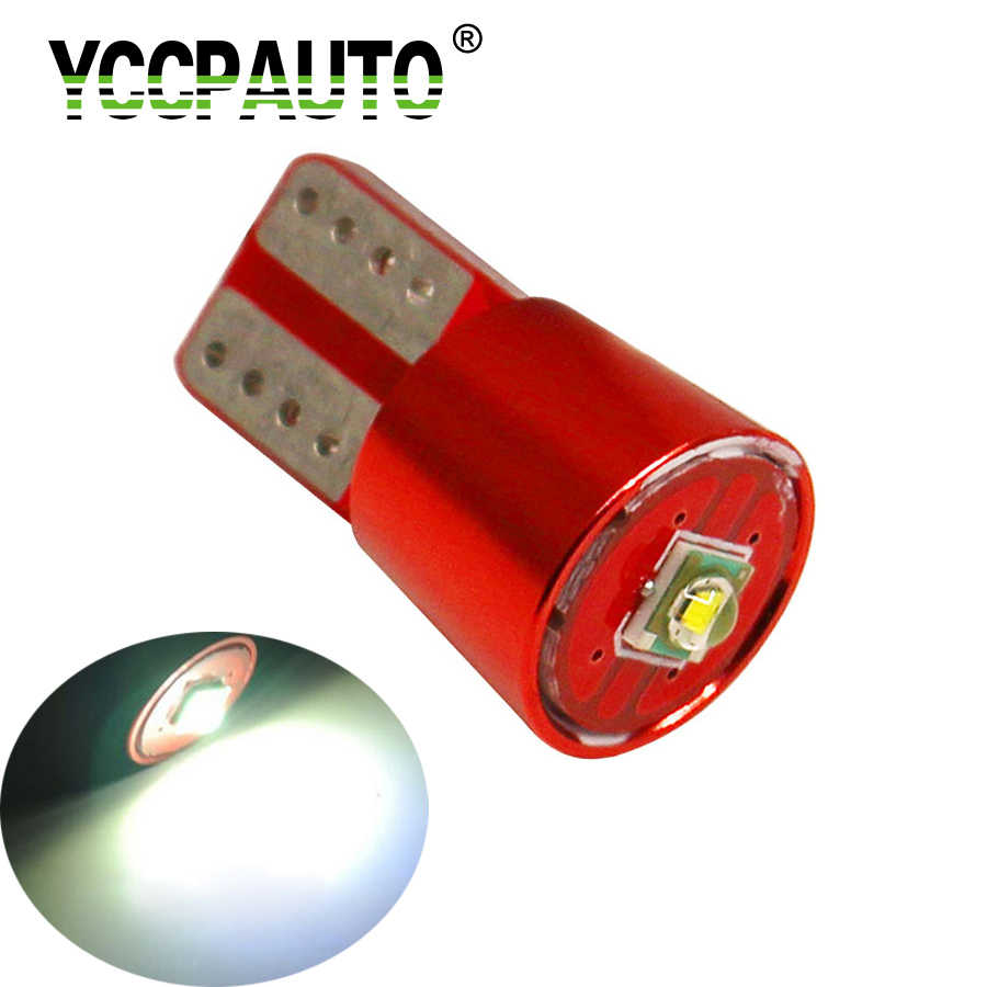YCCPAUTO T10 Led Light 194 W5W White 4014 Cree LED Chip Clearance Auto Lights Lamp Auto Wedge Marker Lights Bulb 1PCS