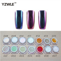 YZWLE 1g/box Shinning Mirror holographic powder Gorgeous Nail Art Chrome Pigment Glitters Dust Nail Art Decorations