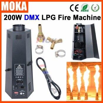 Nowy projekt profesjonalny sprzęt etap efekt 6 kąt dmx ognia ogień maszyna do LPG 200 W płomień projektor DMX512 2 kanały