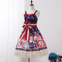 Showa Rabbit ~ Japanese Style Lolita JSK Dress with Matching Bunny Ear KC