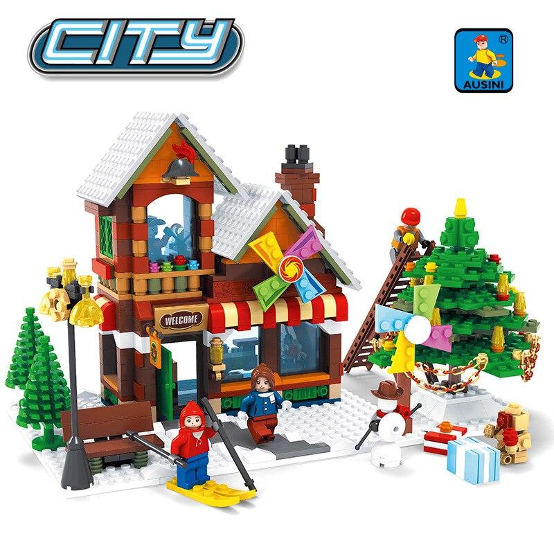 ФОТО Ausini 25611 Alanwhale Winter Village Post Office City Advent Calendar Christmas Santa's Workshop Bricks  compatible